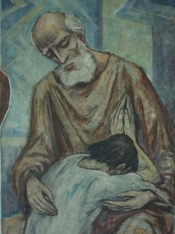 The prodigal son and his merciful father